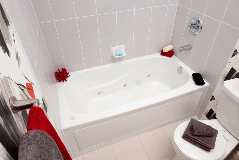 mirolin sydney 5 feet acrylic drop-in whirlpool bathtub | the home