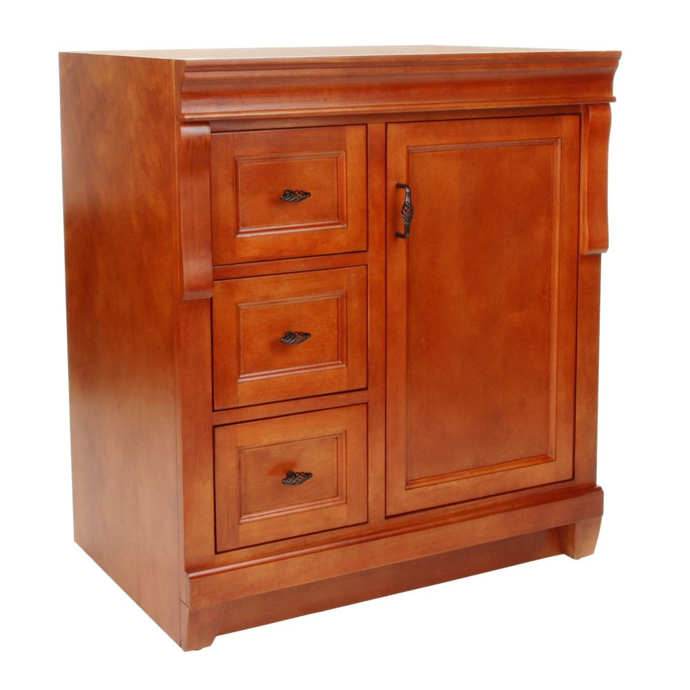foremost international naples 30 inch vanity cabinet in warm cinnamon the home depot canada. Black Bedroom Furniture Sets. Home Design Ideas