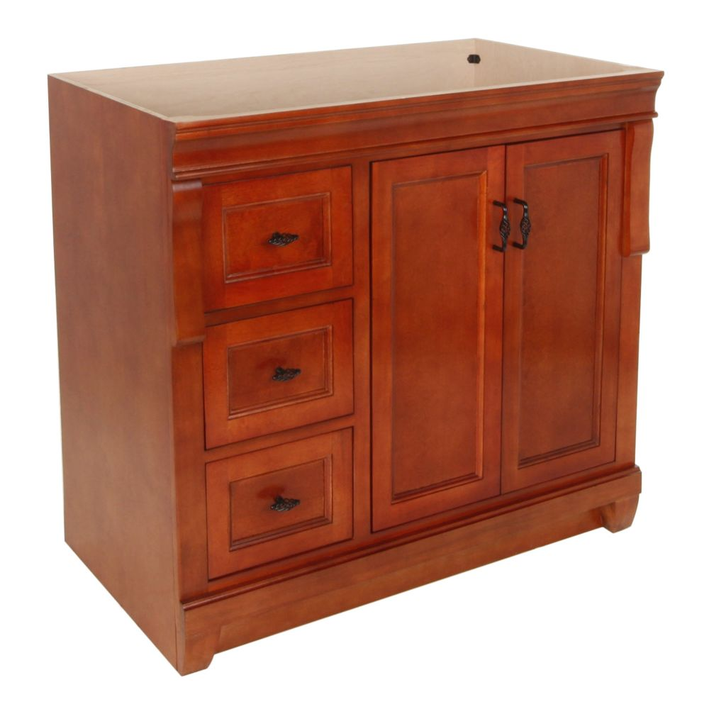 Naples 36-Inch  Vanity Cabinet in Warm Cinnamon