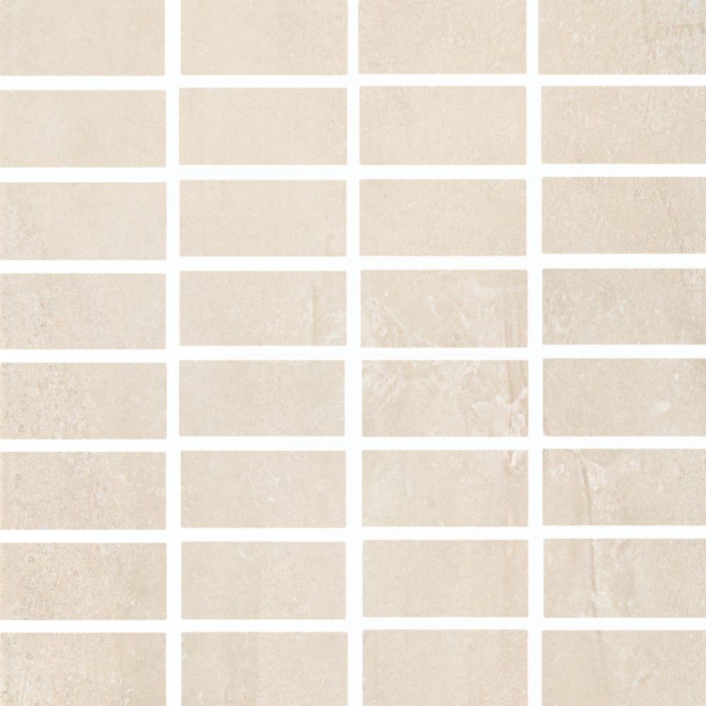 Cityscape T-1000 G. Neige Mosaïque Carreaux de Porcelaine de Mur et Sol (Feuille de 12 po X 12 po...