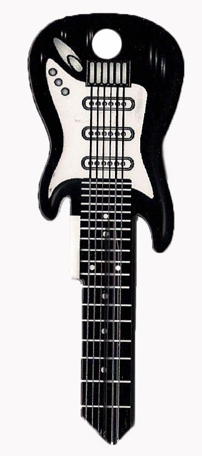 KW1 Electric Guitar House Key - Black