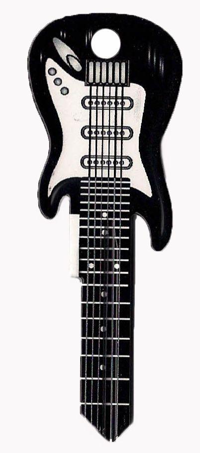 SC1 Electric Guitar House Key - Black