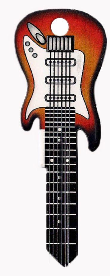 WR3 - Electric Guitar House Key- Sunburst
