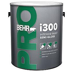 Behr Pro BEHR PRO Série i300, Peinture intérieure semi-brillante - Base moyenne, 3,79 L