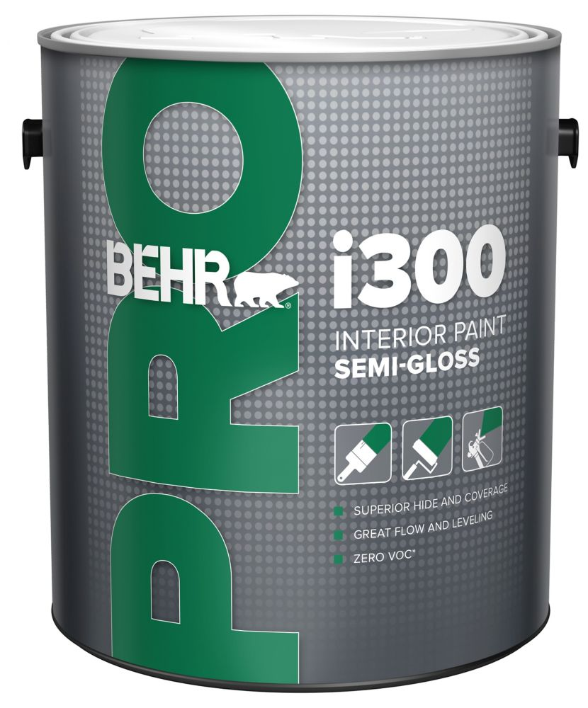 BEHR PRO i300 Series, Interior Paint Semi-Gloss - Medium Base, 3.79 L