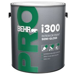 Behr Pro i300 Series, Interior Paint Semi-Gloss - Medium Base, 3.79 L