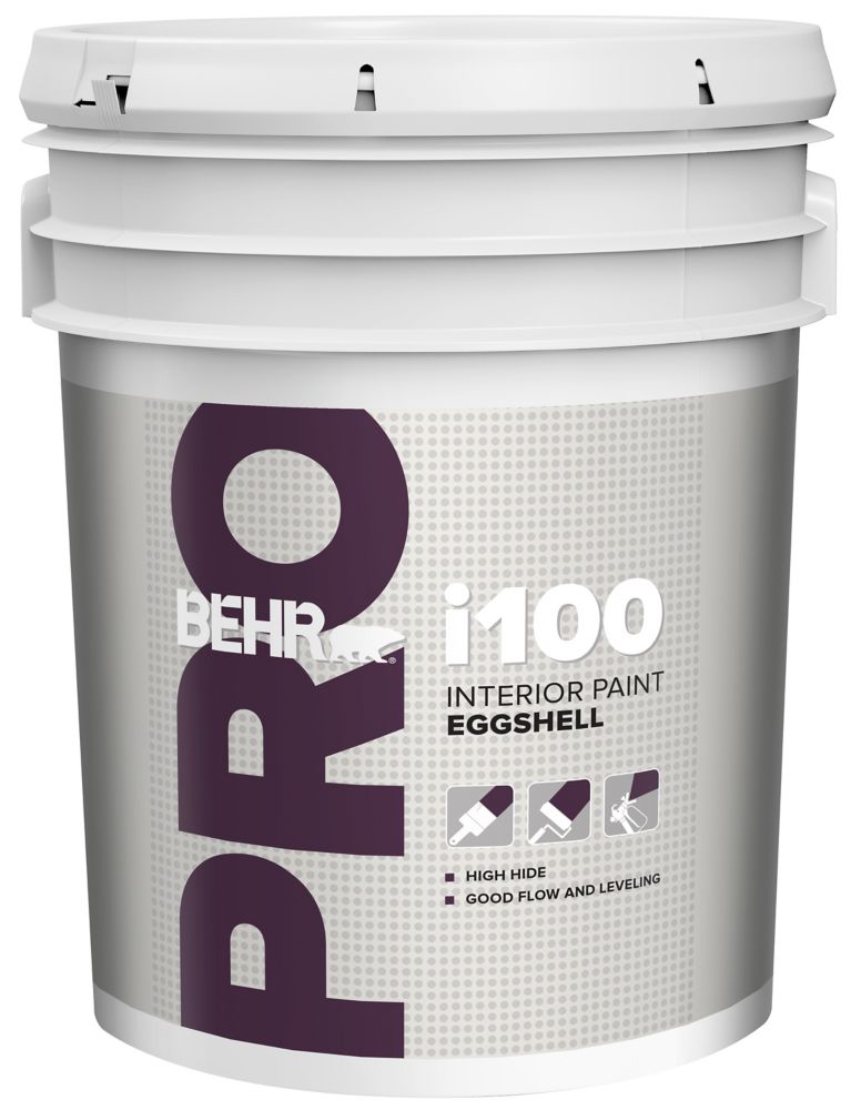 BEHR PRO i100 Series, Interior Paint Eggshell - White Base, 18.96 L