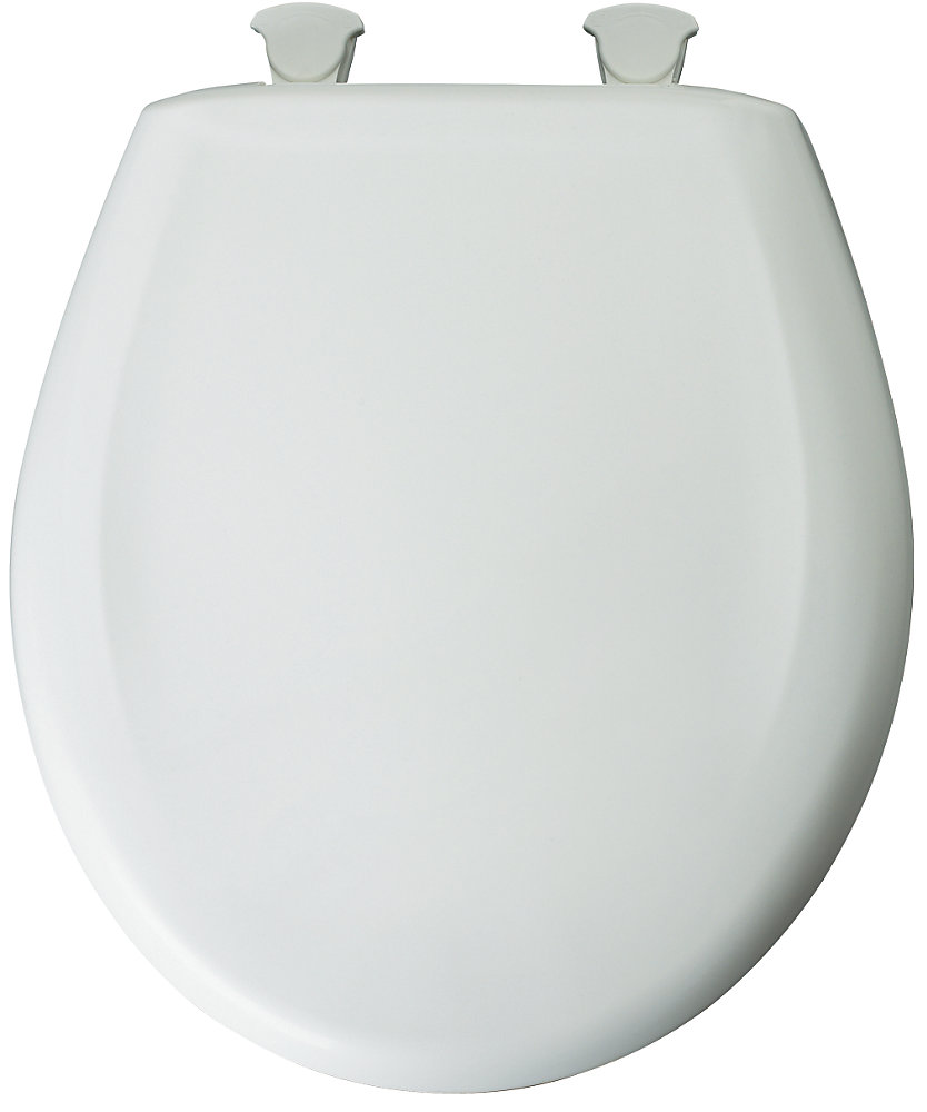 Bemis Round Plastic Toilet Seat With Whisper Close And