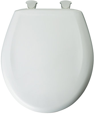 gold glitter toilet seat. Round Plastic Toilet Seat with Whisper Close and Easy Clean  Change Hinge in White Shop Seats at HomeDepot ca The Home Depot Canada