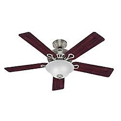 Hunter 52 In. Vista - Brushed Nickel Ceiling Fan