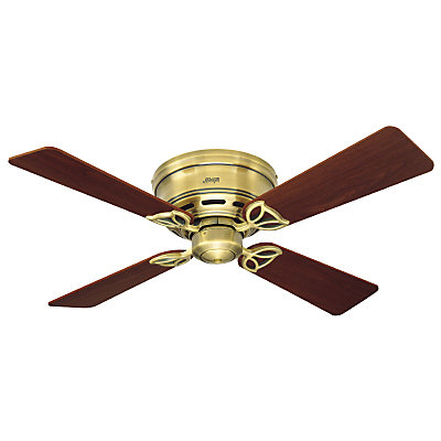 Hunter 42 in low profile iii antique brass ceiling fan the home hunter 42 in low profile iii antique brass ceiling fan the home depot canada aloadofball Choice Image