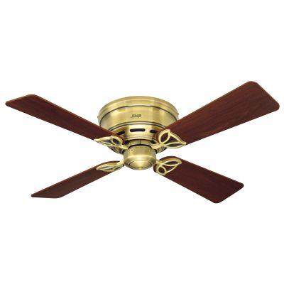 42 In. Low Profile III - Antique Brass Ceiling Fan