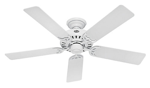 Hunter 52 in summer breeze plus white ceiling fan the home 52 in summer breeze plus white ceiling fan aloadofball Image collections