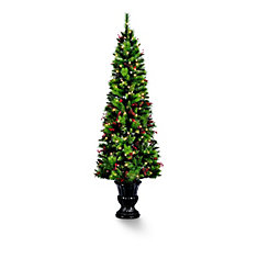 6.5 ft Pre-Lit Decorated Colorado Pine Christmas Tree