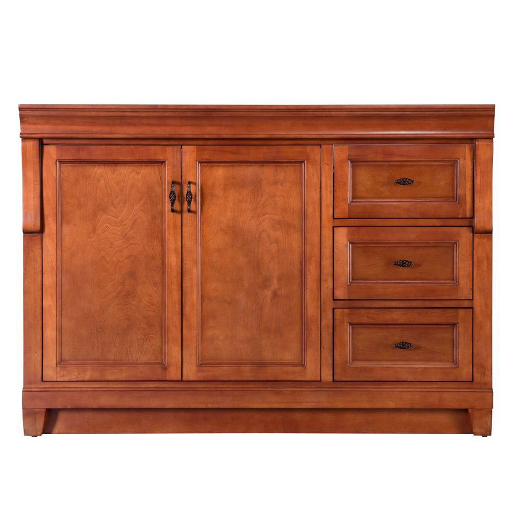 Foremost International Naples 48-inch W Bath Vanity Cabinet Only in Warm Cinnamon with Right Hand Drawers