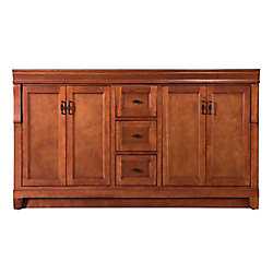Foremost International Naples 60-inch W Bath Vanity Cabinet Only in Warm Cinnamon for Double Bowl