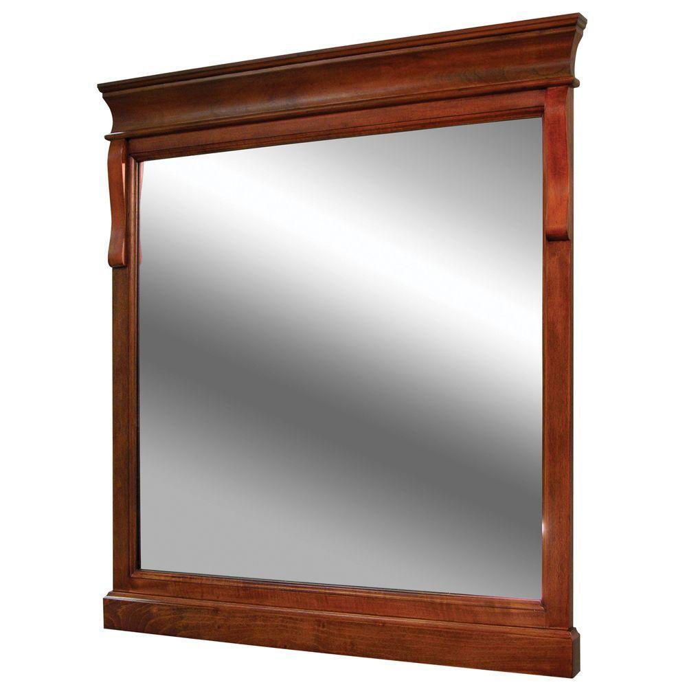Foremost International Naples 30-inch x 32-inch Wall Mirror in Warm Cinnamon