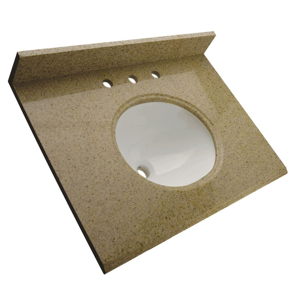 Dessus de meuble-lavabo en granite Beige mohave 31 po
