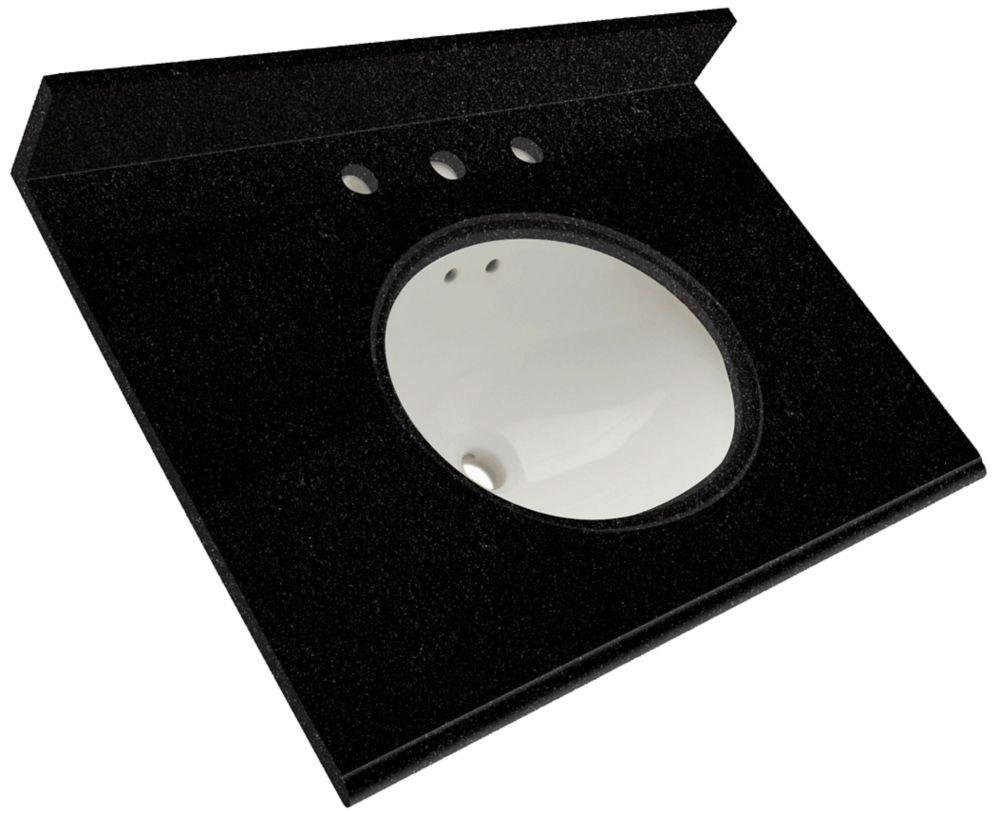 "Dessus de meuble-lavabo en granite de Black � 25"""