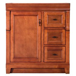 Foremost International Naples 30-inch W x 21.63-inch D Vanity Cabinet Only in Warm Cinnamon with Right Hand Drawers