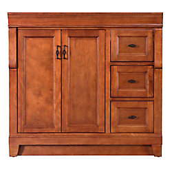 Foremost International Naples 36-inch W Bath Vanity Cabinet Only in Warm Cinnamon with Right Hand Drawers