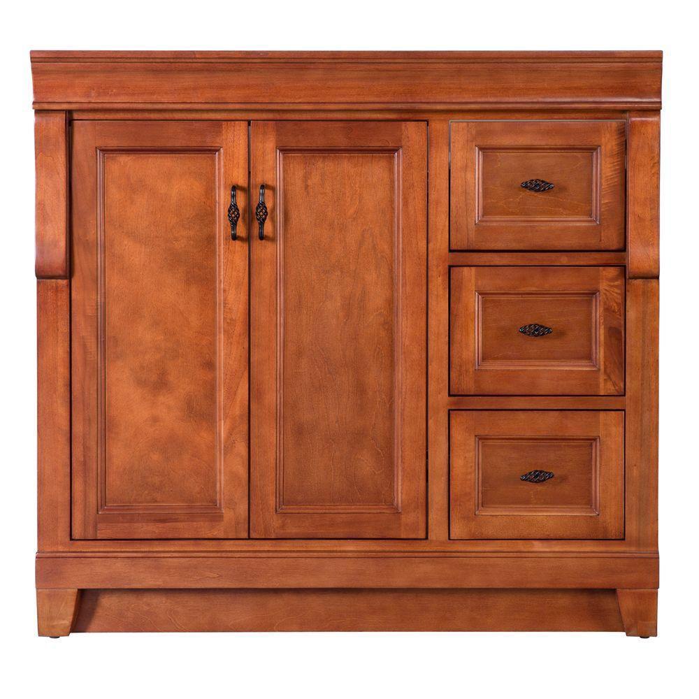 Naples 36-Inch  Vanity Cabinet in Warm Cinnamon