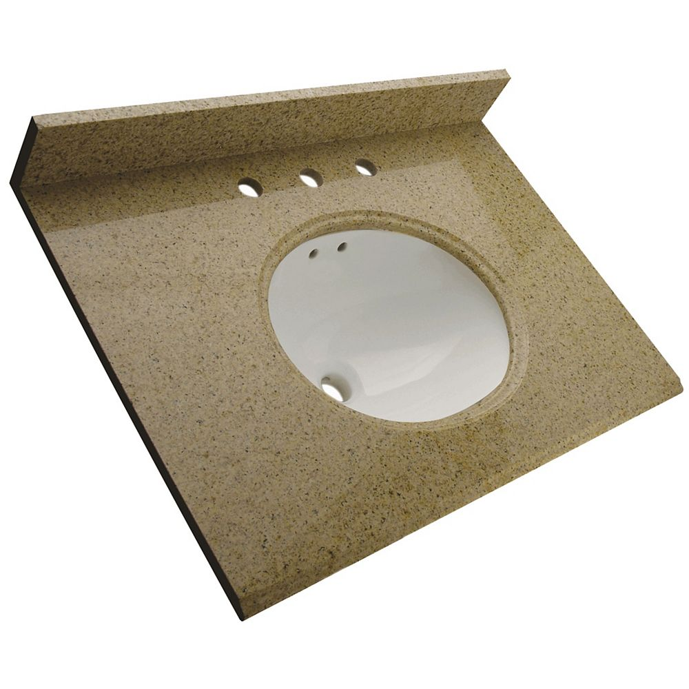 Foremost 25-Inch W x 22-Inch D Granite Vanity Top in Mohave Beige