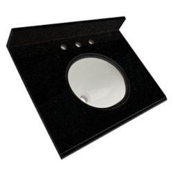 Foremost International Dessus De Meuble Lavabo En Granite De Black