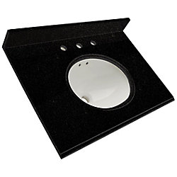 Foremost International 49-Inch W x 22-Inch D Granite Vanity Top in Black