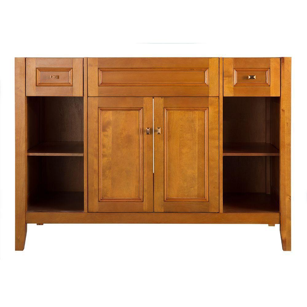 Exhibit 48-Inch  Vanity Cabinet in Rich Cinnamon