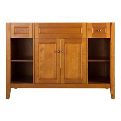 Foremost International Exhibit 48-inch W Bath Vanity Cabinet Only in Rich Cinnamon