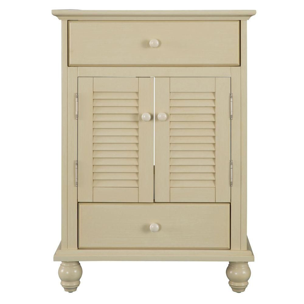 Foremost International Cottage 24-inch W x 21-5/8-inch D x 34-inch H Vanity Cabinet Only in Antique White