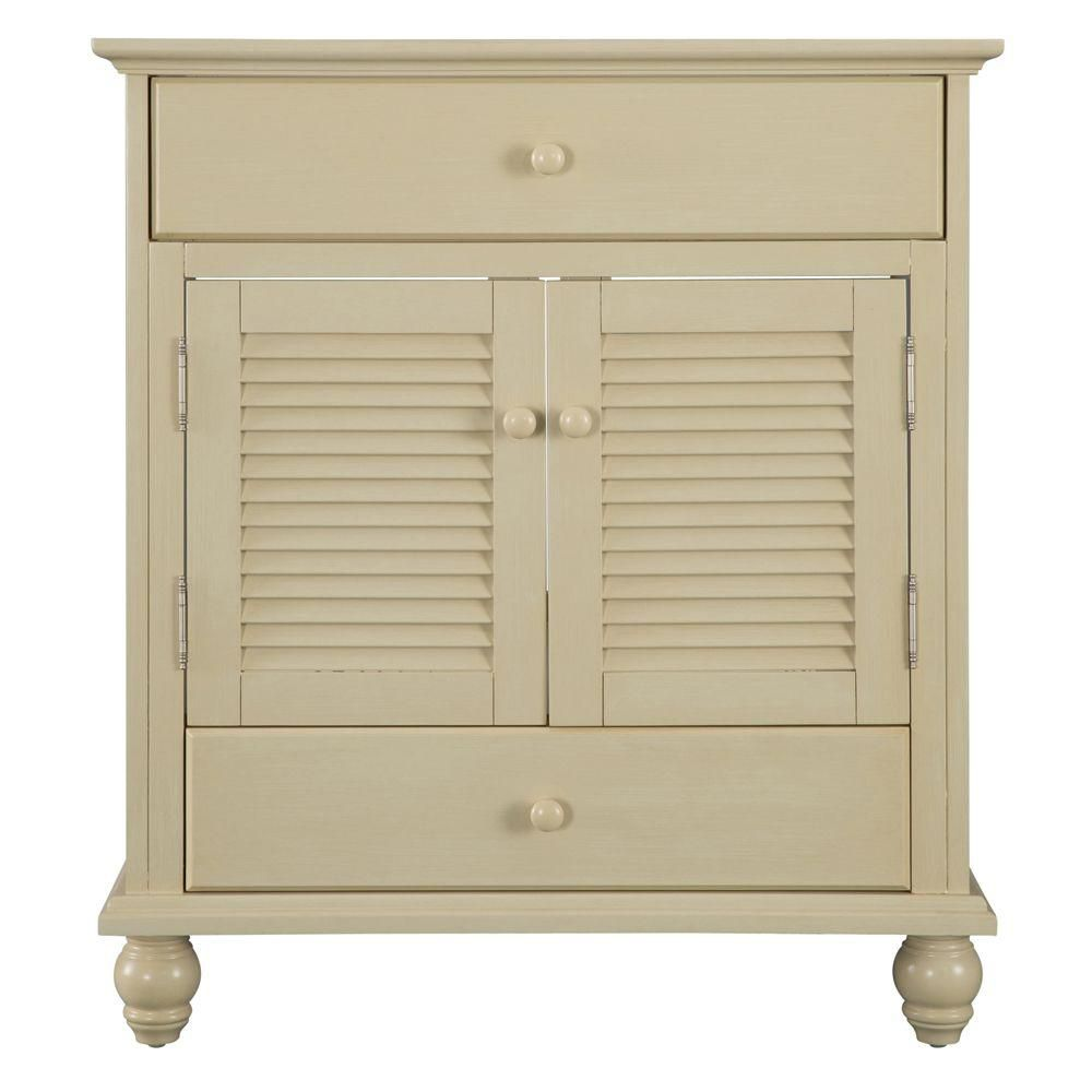 Cottage 30-Inch  Vanity Cabinet in Antique White