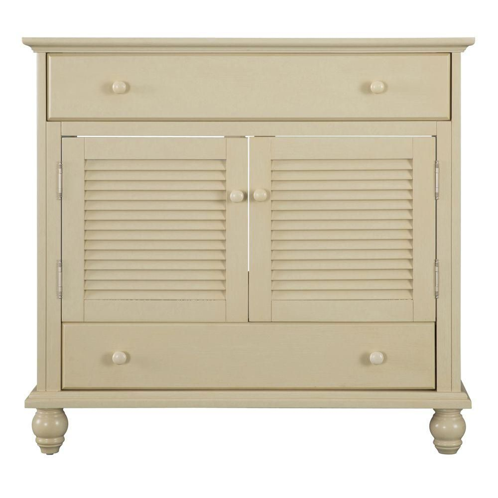 Cottage 36-Inch  Vanity Cabinet in Antique White