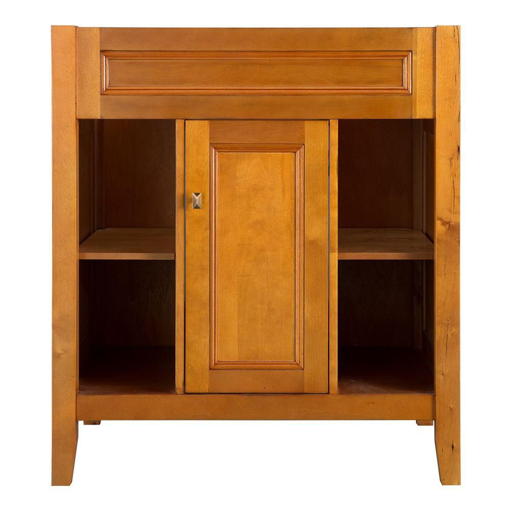Exhibit 30-Inch  Vanity Cabinet in Rich Cinnamon