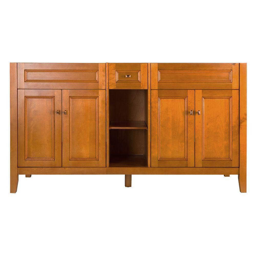 Exhibit 60-Inch  Vanity Cabinet in Rich Cinnamon