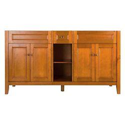 Foremost International Exhibit 60-inch W x 34-inch H x 21-5/8-inch D Vanity Cabinet Only in Rich Cinnamon