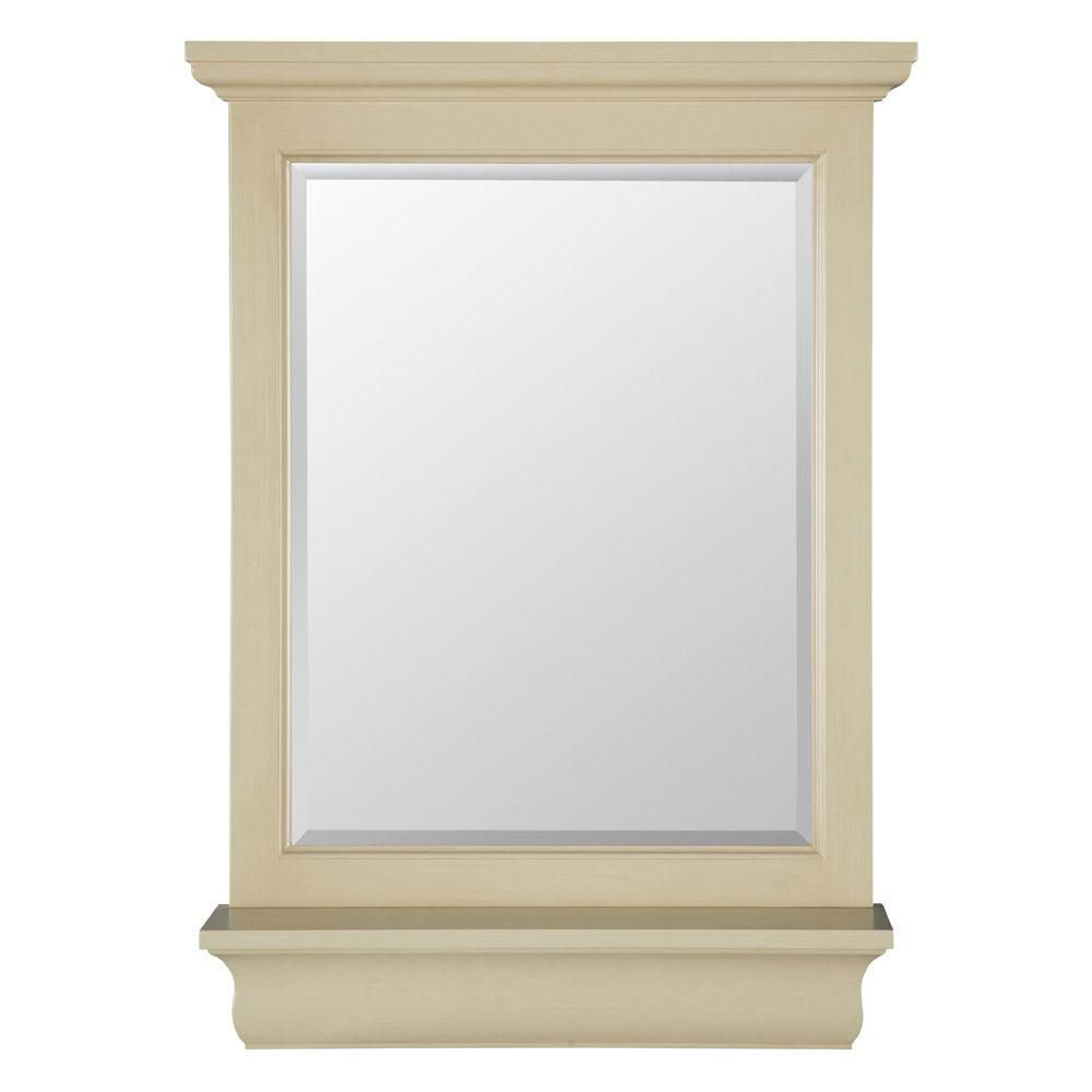 Foremost International Cottage 23-inch x 32-inch Wall Mirror in Antique White