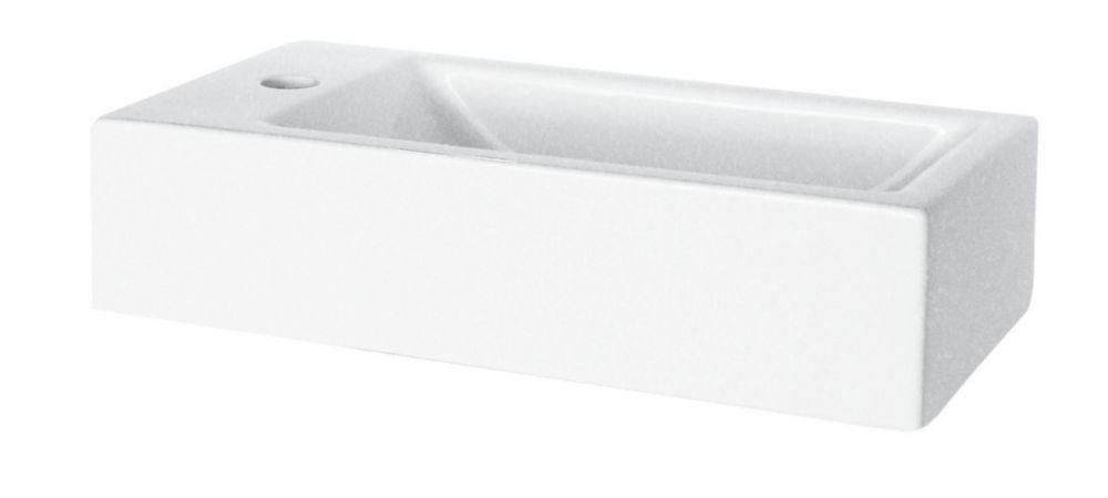 Glacier Bay 19 Inch X 15 1 4 Inch Square Vessel Sink In White The