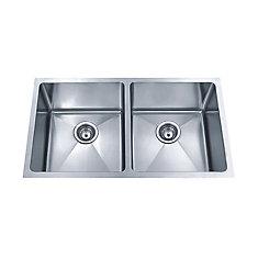 Acri Tec Stainless Steel Undermount Double Bowl Kitchen Sink