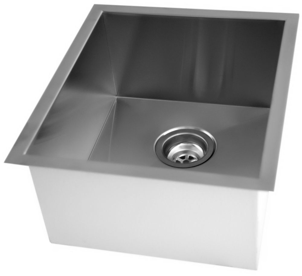 Stainless Steel Undermount Kitchen Sink With Square Contemporary Corners