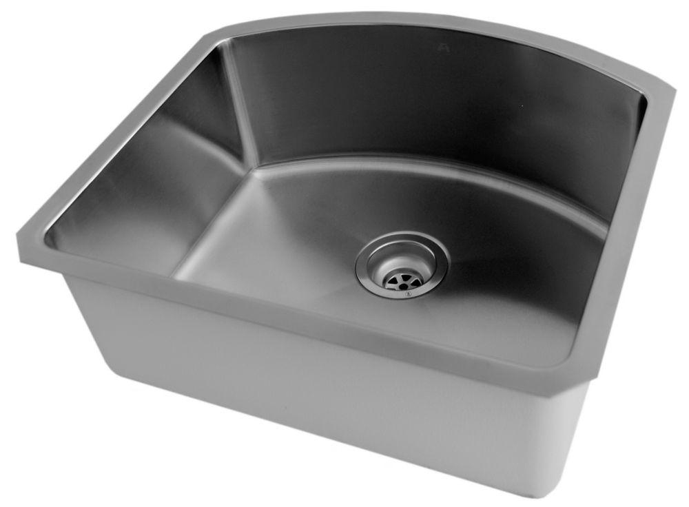Stainless Steel Undermount Kitchen Sink With Small Radius Corners