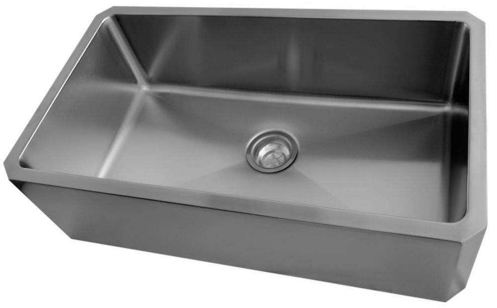 Stainless Steel Single Bowl Undermount Kitchen Sink With Apron