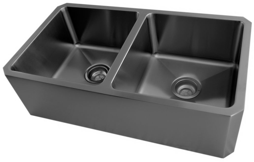 Stainless Steel Double Bowl Undermount Kitchen Sink With Apron