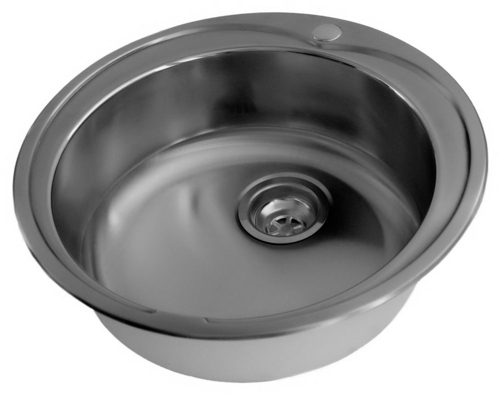 Stainless Steel Round Bar Sink, Single Bowl