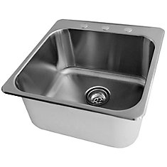 20 x 20 1/2 Stainless Steel Laundry Sink