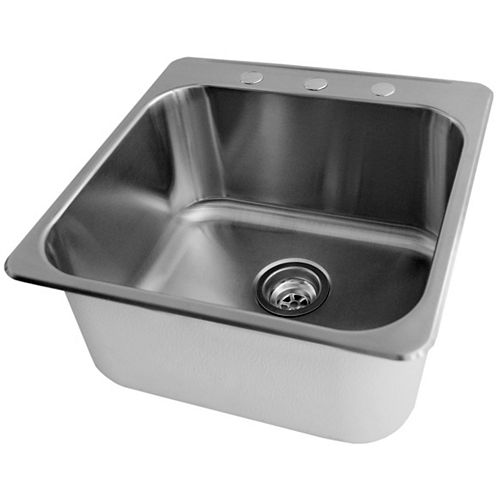 Acri-Tec 20 x 20 1/2 Stainless Steel Laundry Sink