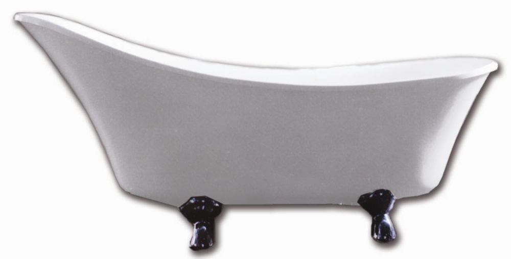 Cleopatra 5 Feet Clawfoot Bathtub with Chrome Legs