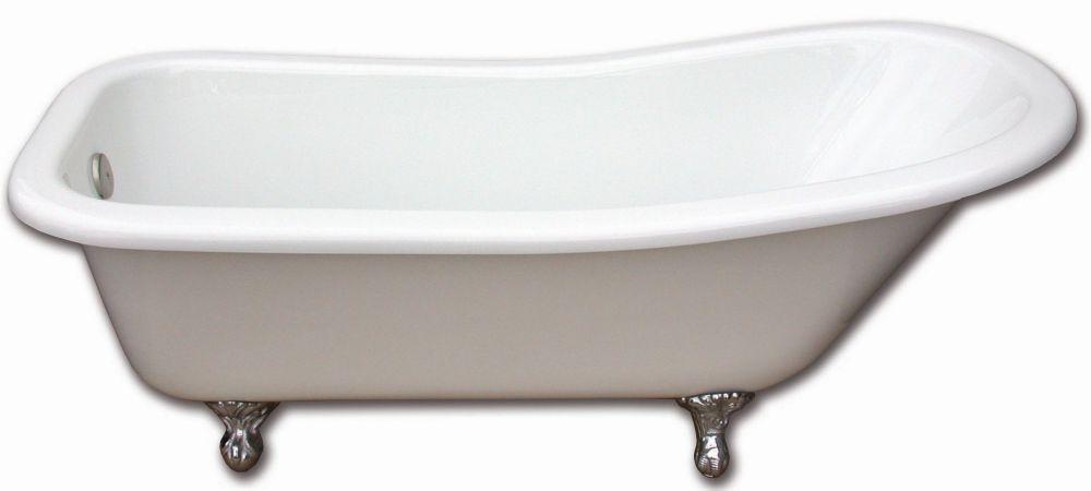 Elizabethan 5 Feet 9-Inch Clawfoot Bathtub with Brushed Nickel Legs