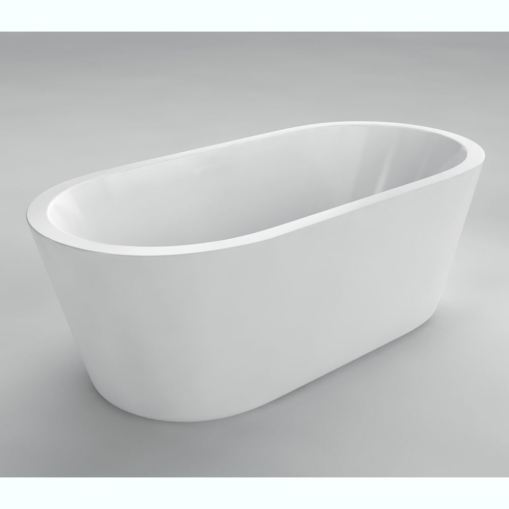 Acri tec lyon seamless freestanding bathtub the home for Lyons whirlpool tub
